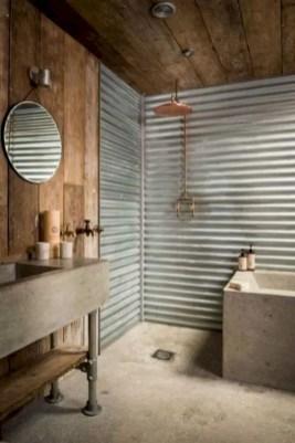 Rustic farmhouse bathroom ideas with shower 08