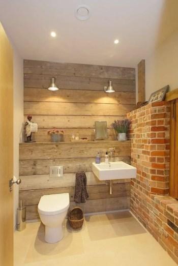 Rustic farmhouse bathroom ideas with shower 11