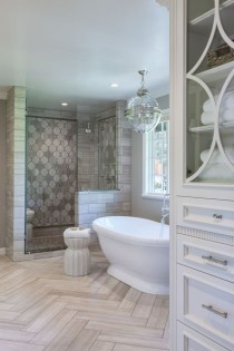 Rustic farmhouse bathroom ideas with shower 114