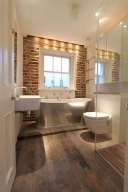 Rustic farmhouse bathroom ideas with shower 17