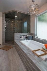 Rustic farmhouse bathroom ideas with shower 64