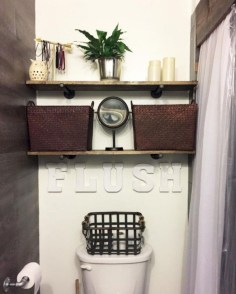 Rustic farmhouse bathroom ideas with shower 99
