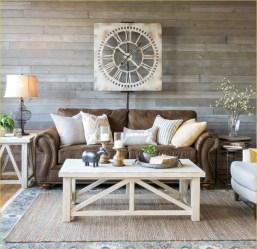 Rustic modern farmhouse living room decor ideas 02