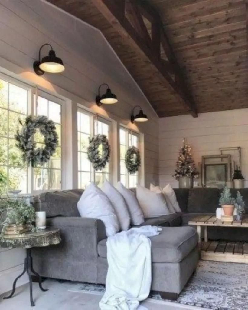 Rustic modern farmhouse living room decor ideas 100