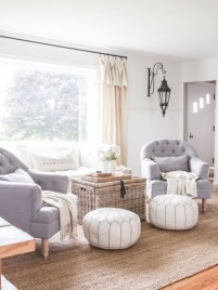 Rustic modern farmhouse living room decor ideas 105