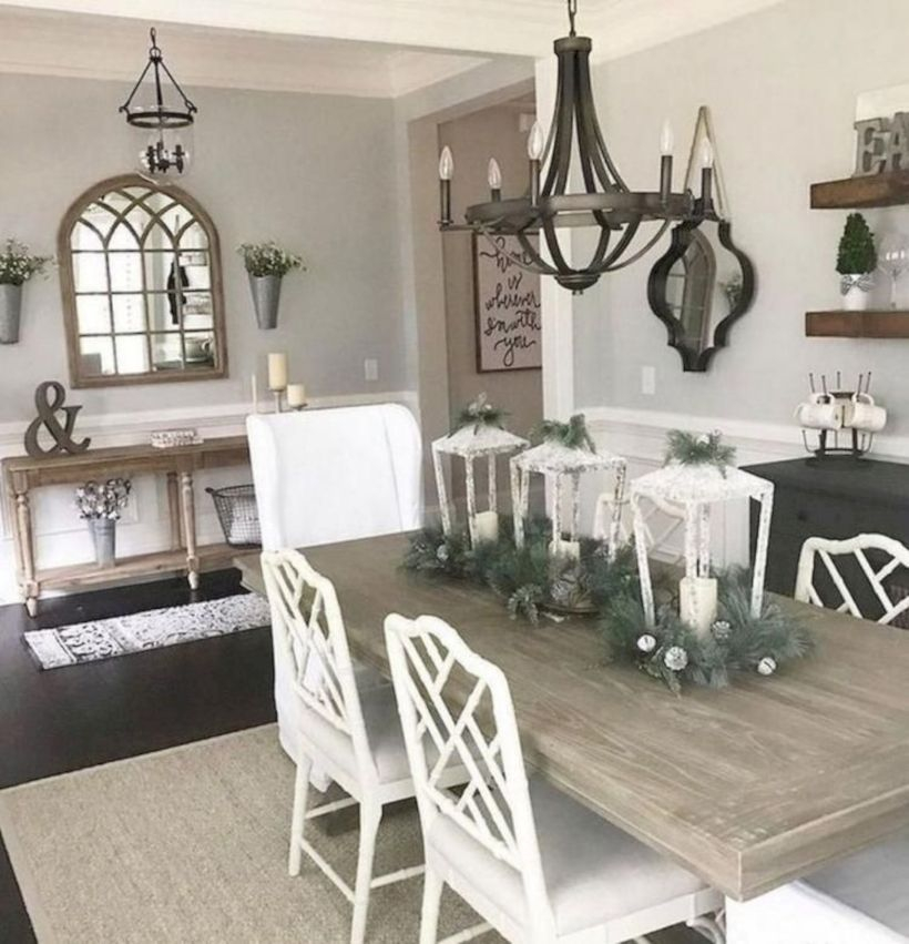 Rustic modern farmhouse living room decor ideas 115