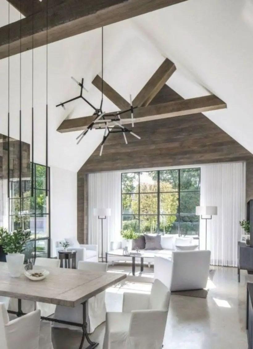 Rustic modern farmhouse living room decor ideas 118