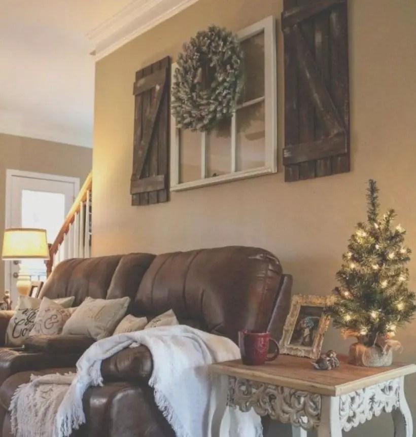 Rustic modern farmhouse living room decor ideas 119