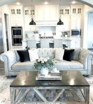Rustic modern farmhouse living room decor ideas 120