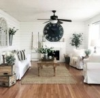 Rustic modern farmhouse living room decor ideas 121