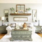 Rustic modern farmhouse living room decor ideas 122