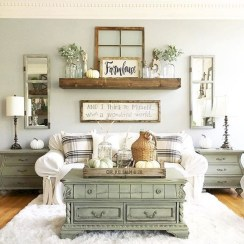 Rustic modern farmhouse living room decor ideas 122