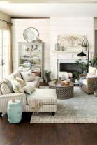 Rustic modern farmhouse living room decor ideas 15