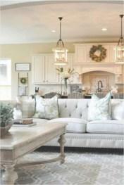 Rustic modern farmhouse living room decor ideas 23