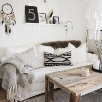 Rustic modern farmhouse living room decor ideas 24