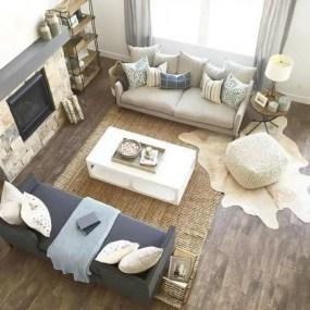 Rustic modern farmhouse living room decor ideas 35