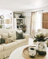 Rustic modern farmhouse living room decor ideas 63