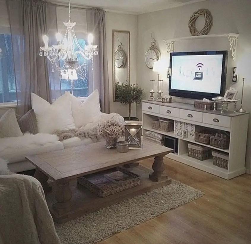 Rustic modern farmhouse living room decor ideas 69