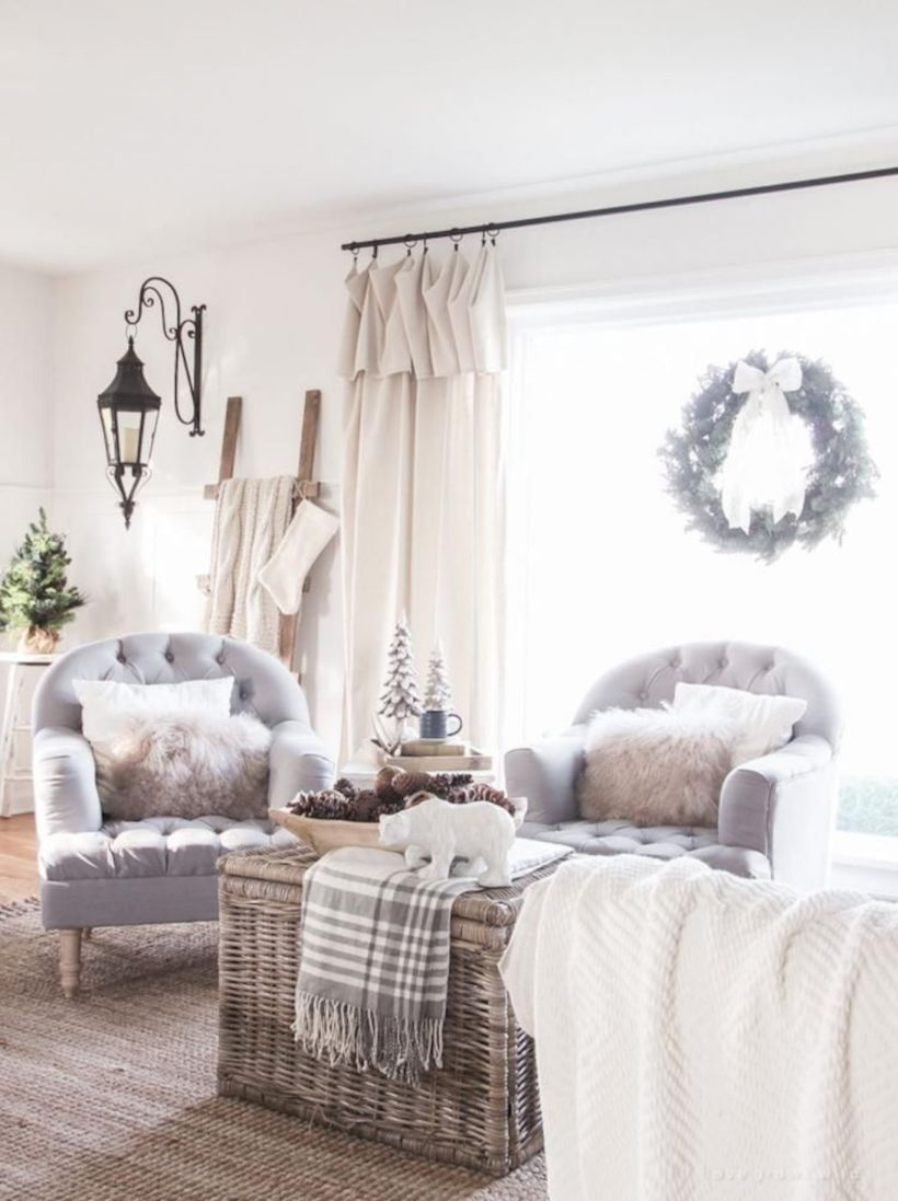 Rustic modern farmhouse living room decor ideas 78