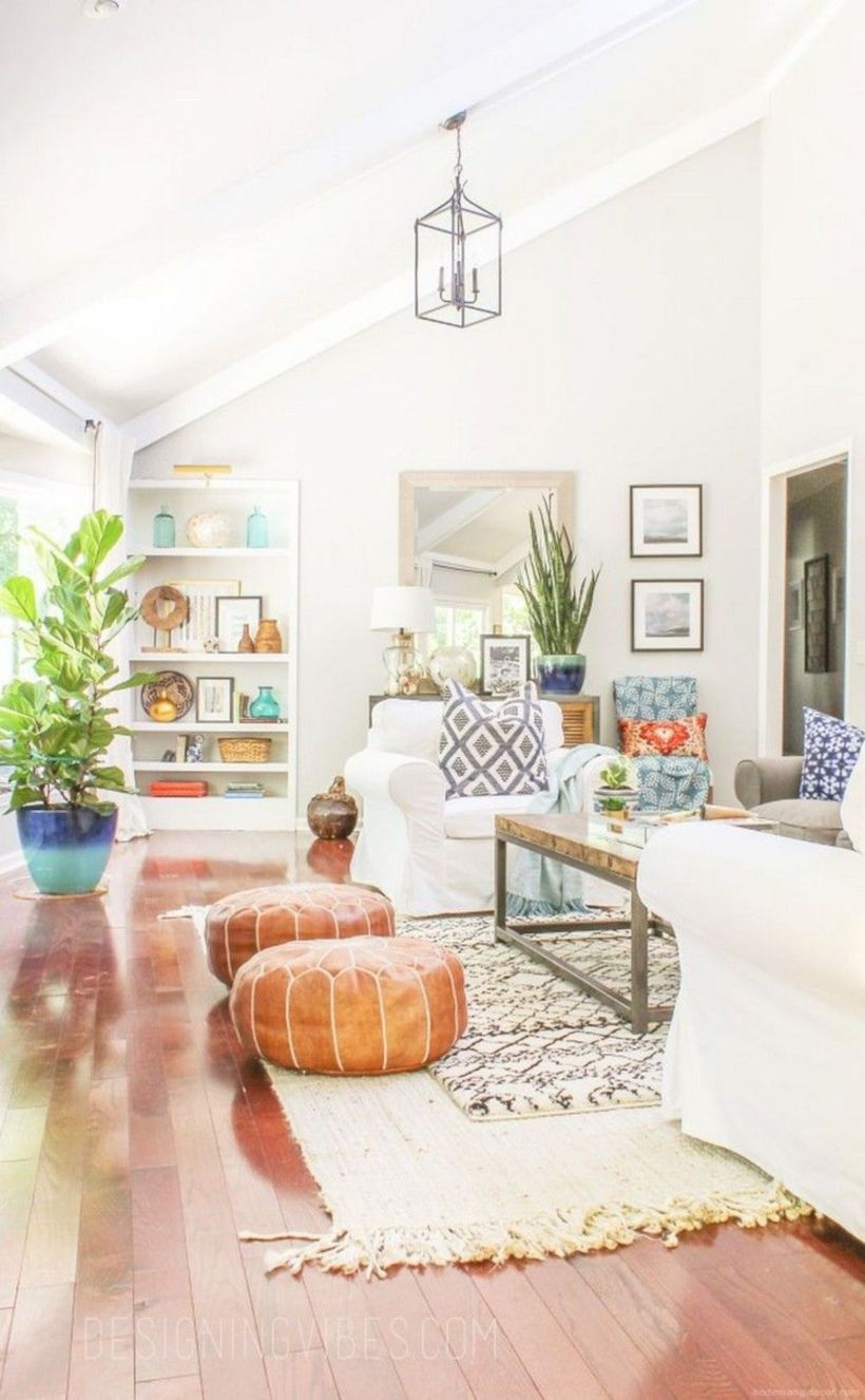 Rustic modern farmhouse living room decor ideas 85