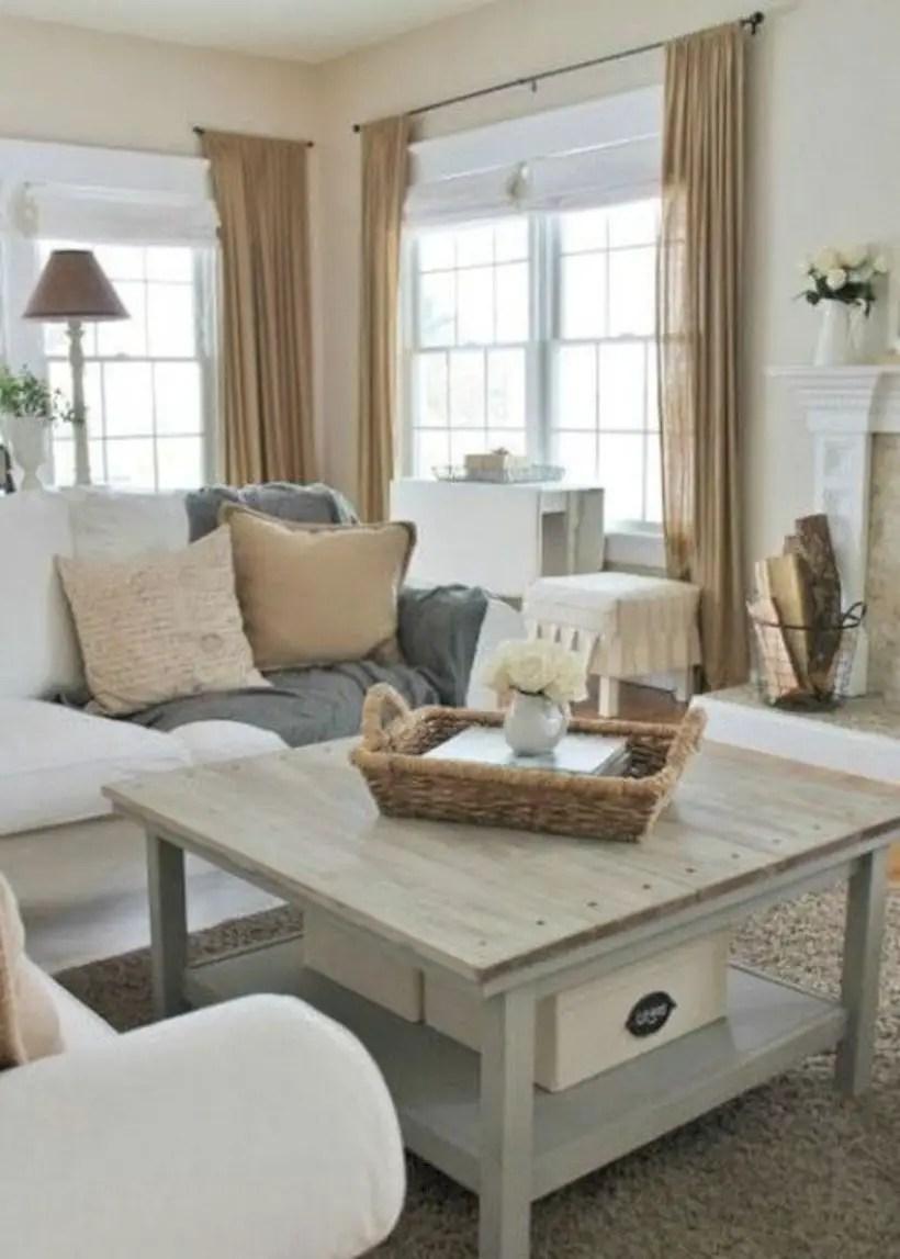 Rustic modern farmhouse living room decor ideas 95
