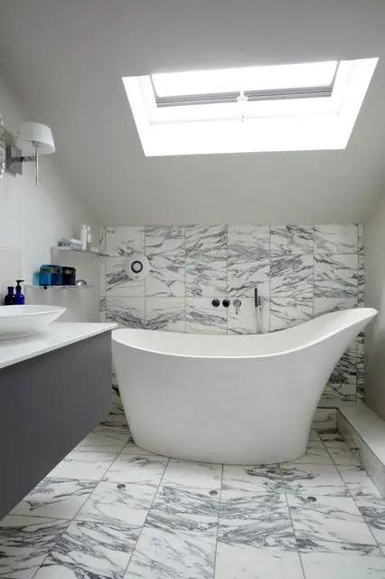 Unique attic bathroom design ideas for your private haven 18
