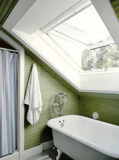 Unique attic bathroom design ideas for your private haven 22