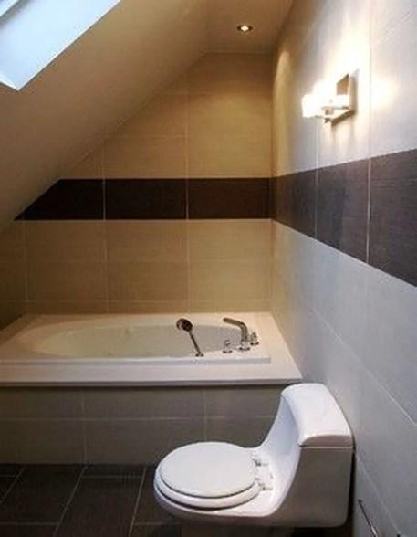 Unique attic bathroom design ideas for your private haven 27