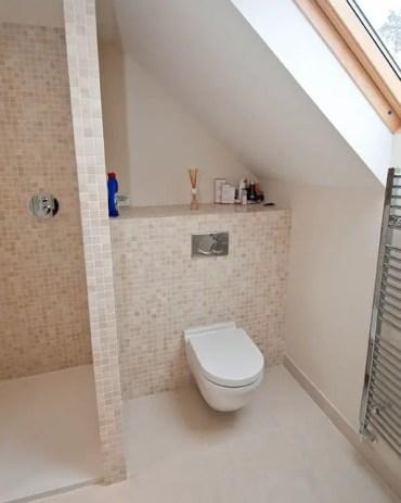 Unique attic bathroom design ideas for your private haven 30