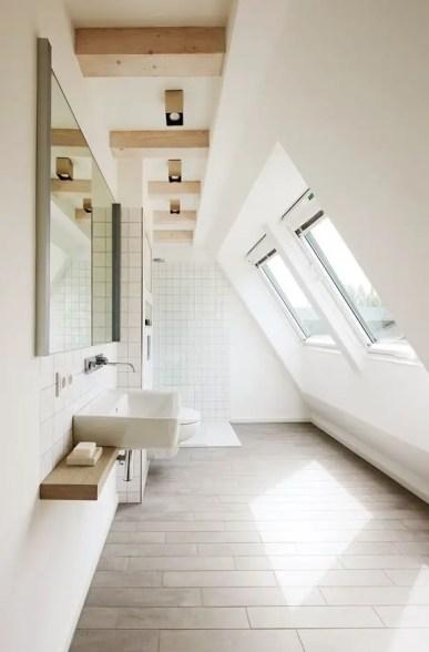 Unique attic bathroom design ideas for your private haven 31