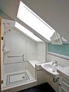 Unique attic bathroom design ideas for your private haven 38