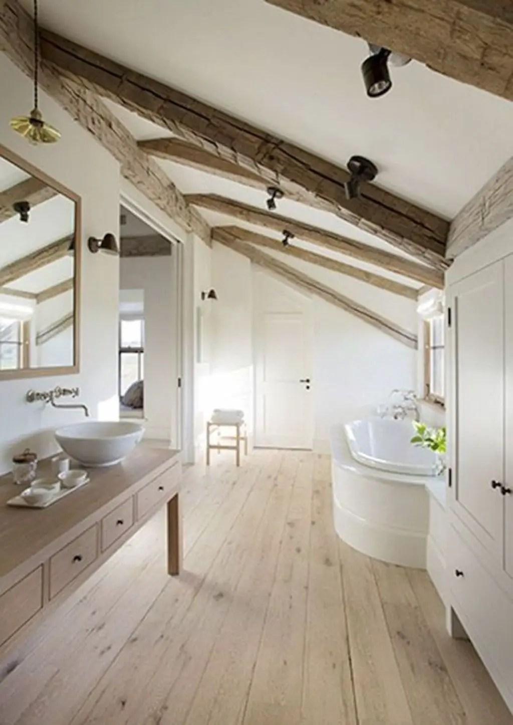Unique attic bathroom design ideas for your private haven 51
