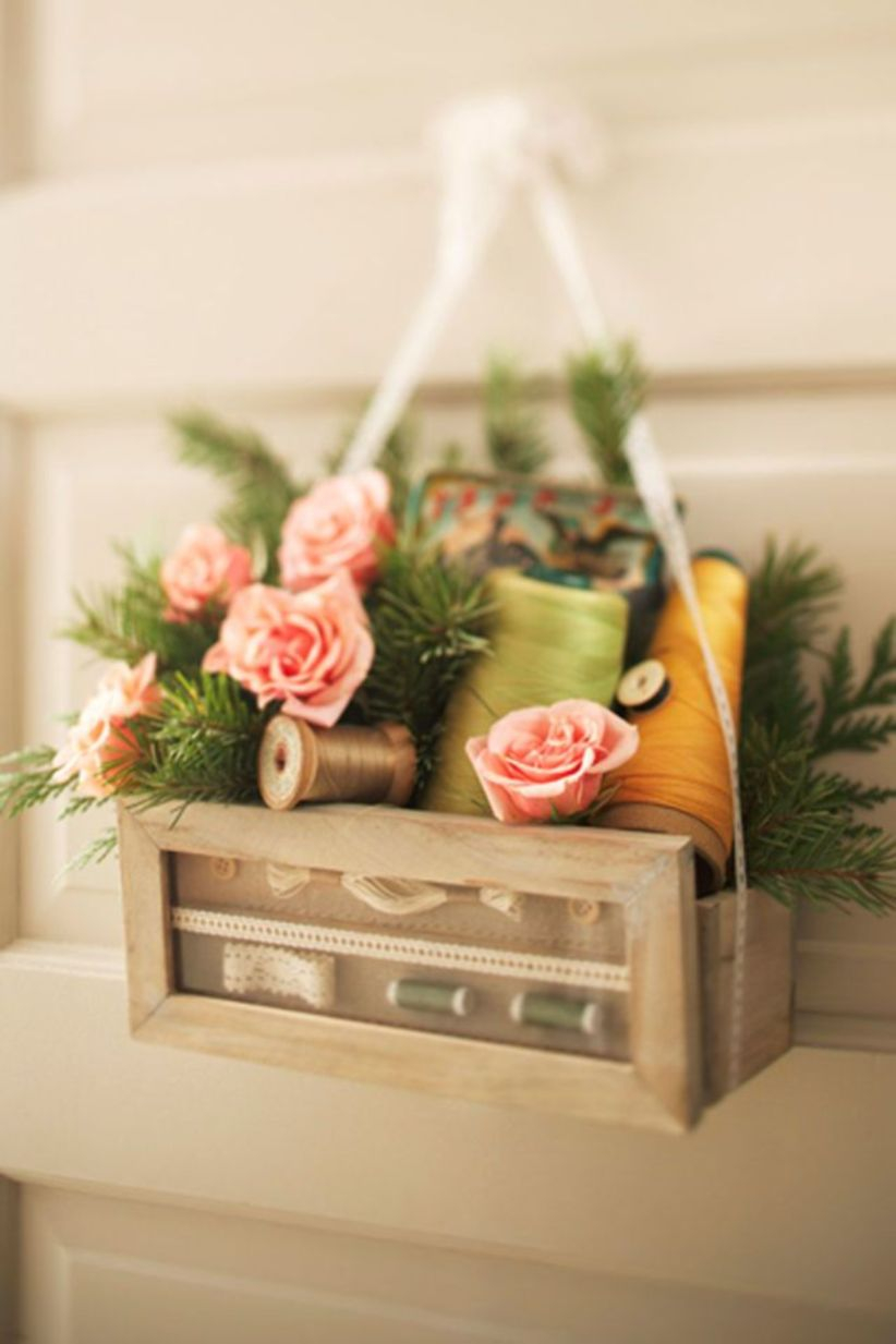 Beautiful decor ideas to hang on your door that aren't wreaths 21