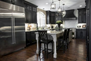 Stylist and elegant black and white kitchen ideas 03