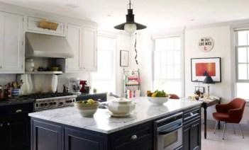 Stylist and elegant black and white kitchen ideas 05