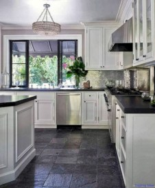 Stylist and elegant black and white kitchen ideas 29
