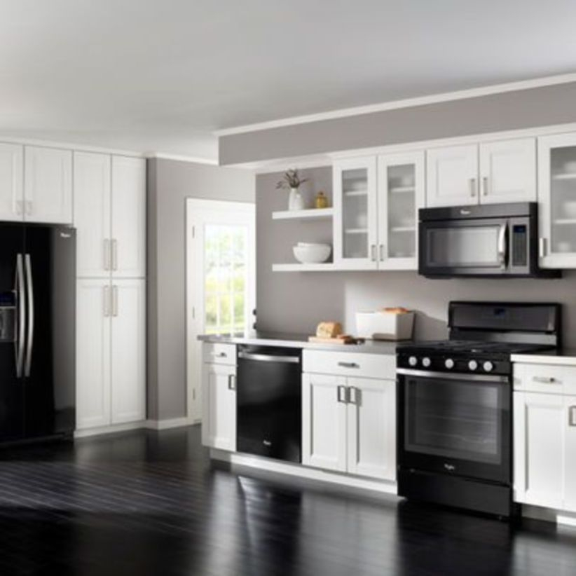 Stylist and elegant black and white kitchen ideas 47