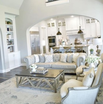 Adorable and cozy neutral living room design ideas 03