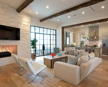 Adorable and cozy neutral living room design ideas 24