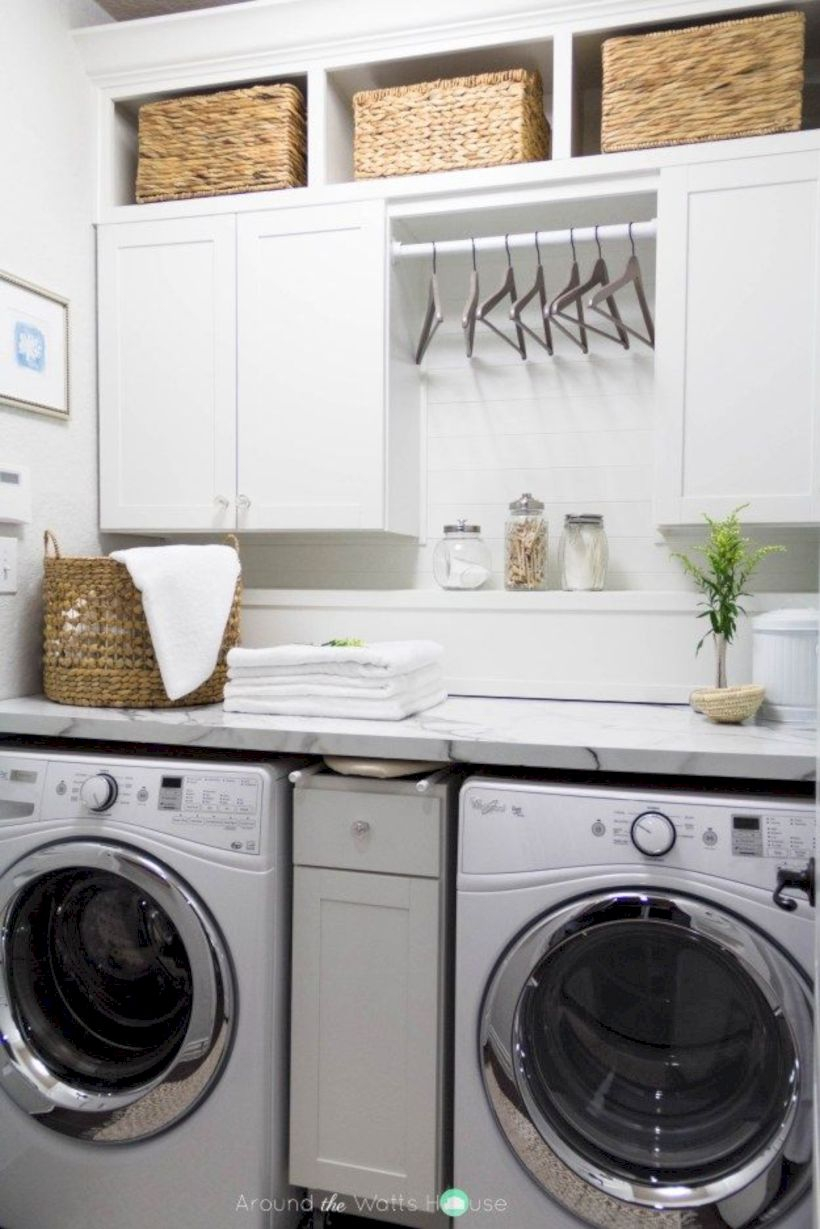 Laundry room storage shelves ideas to consider 13