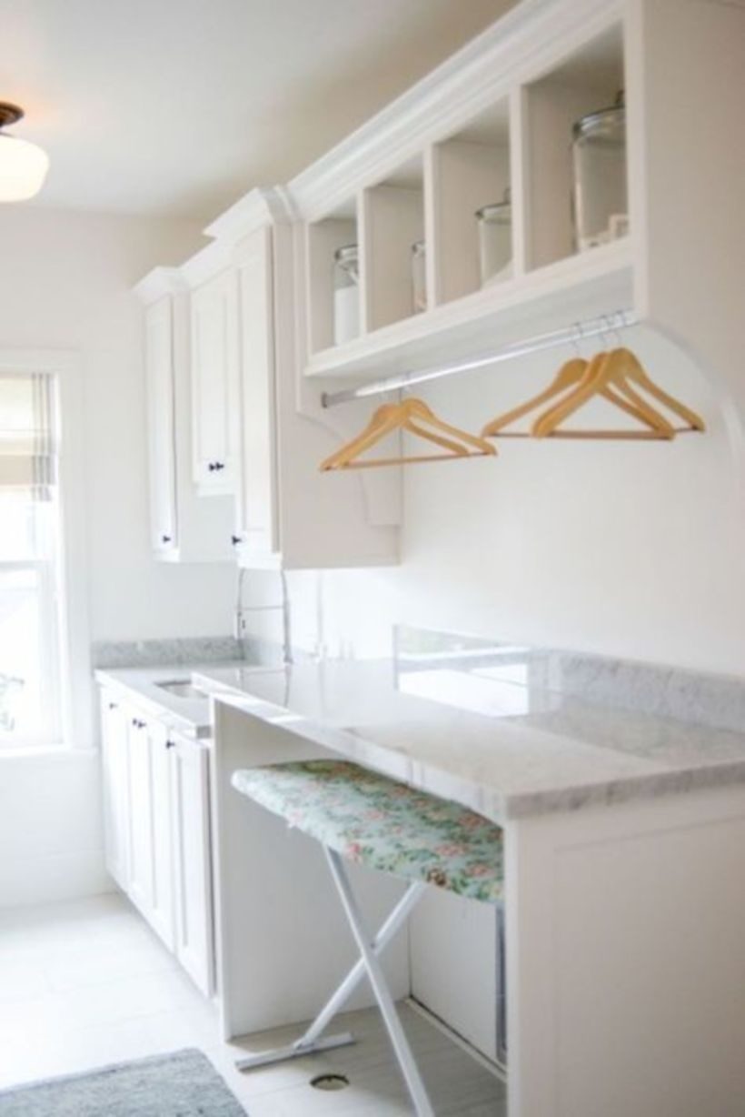 Laundry room storage shelves ideas to consider 14