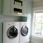 Laundry room storage shelves ideas to consider 15