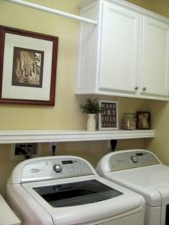 Laundry room storage shelves ideas to consider 22