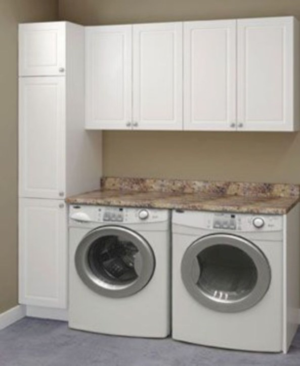 Laundry room storage shelves ideas to consider 23