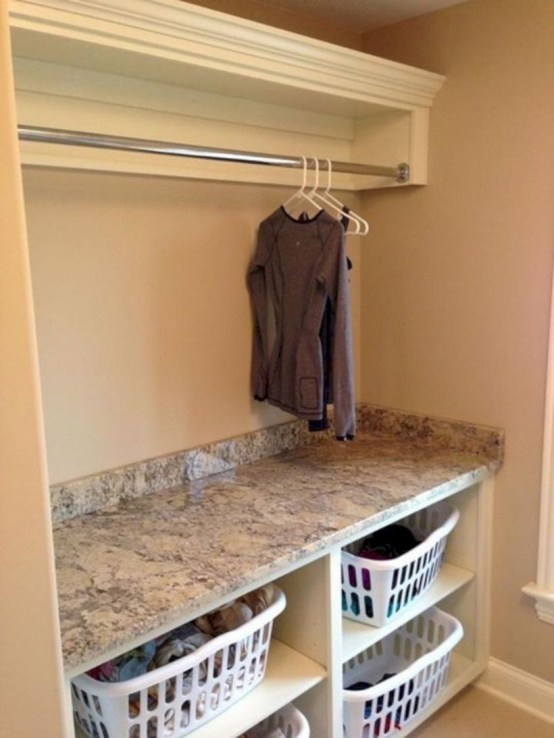 Laundry room storage shelves ideas to consider 29