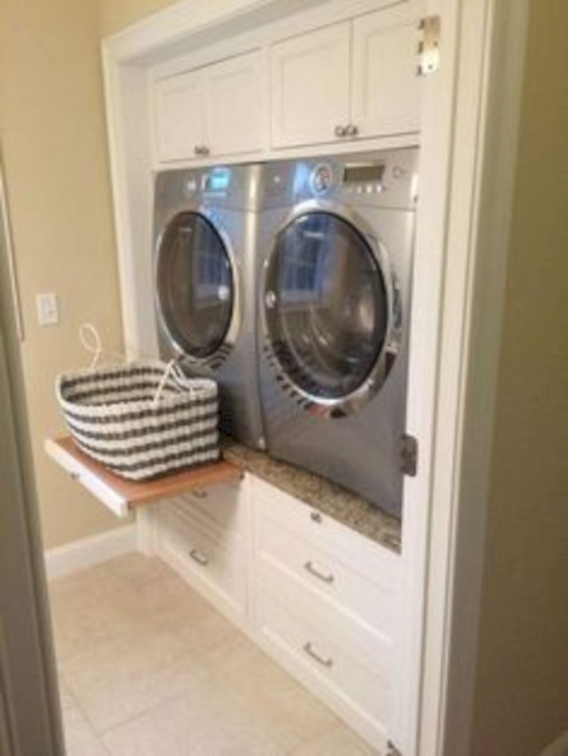 Laundry room storage shelves ideas to consider 39
