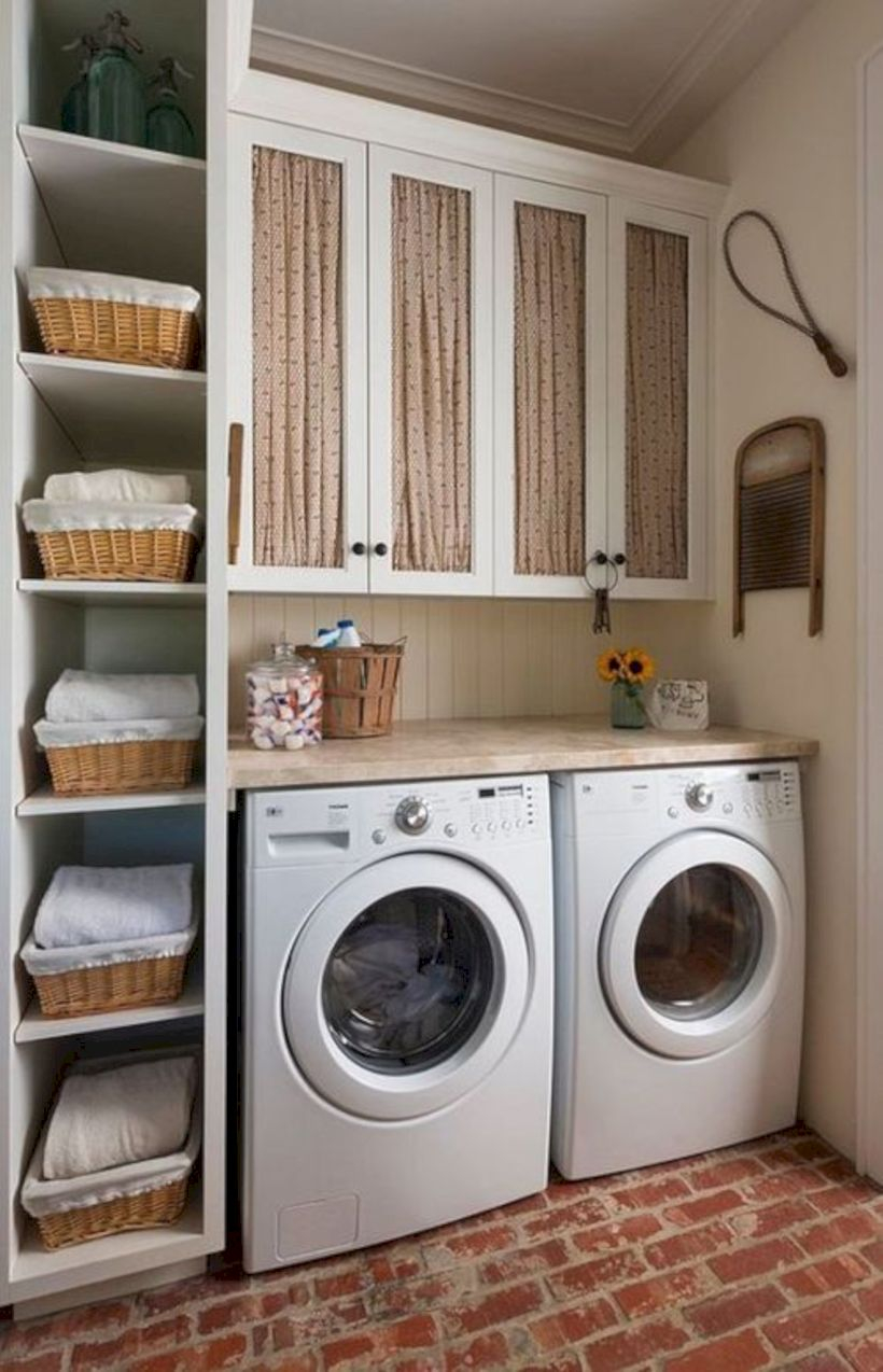 Laundry room storage shelves ideas to consider 41