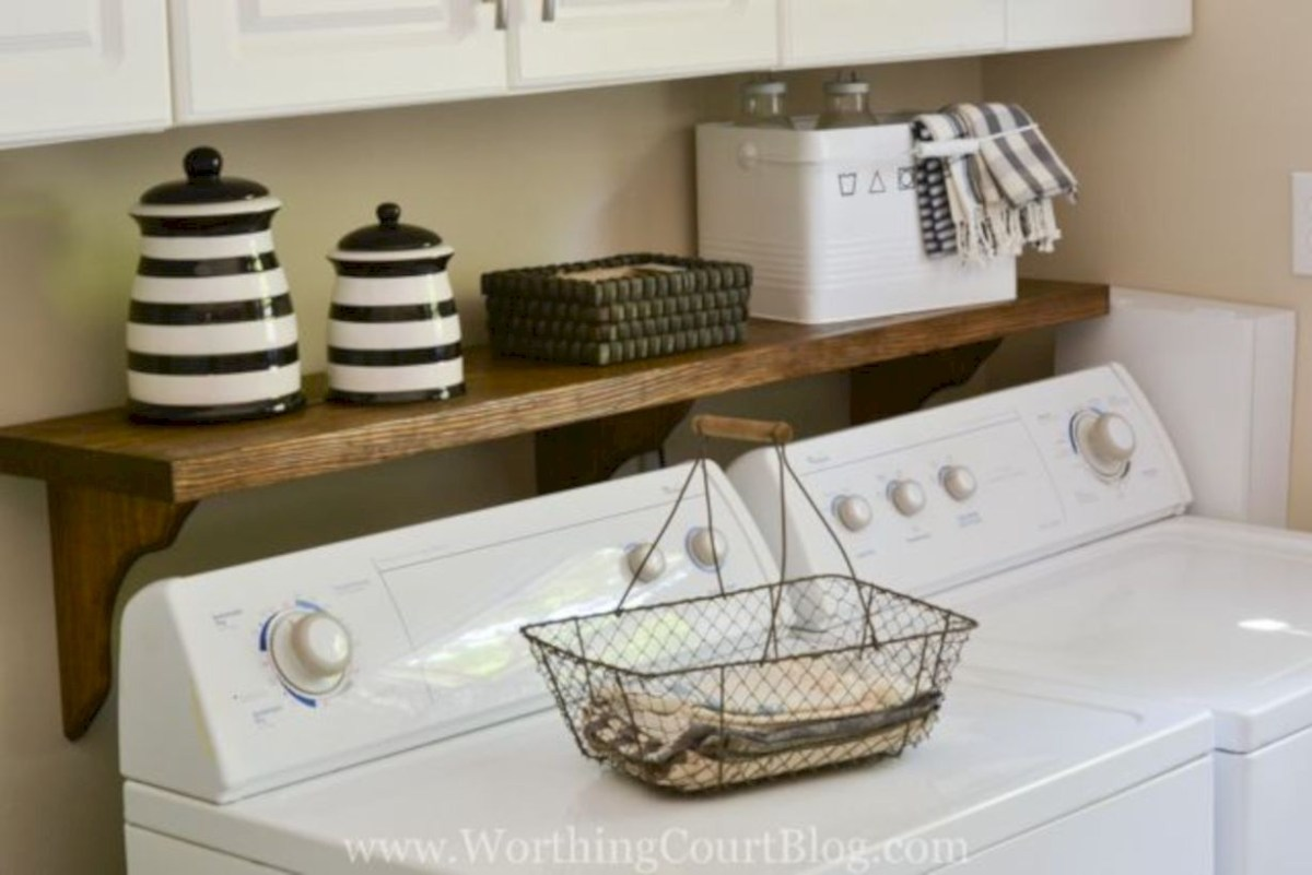 Laundry room storage shelves ideas to consider 47