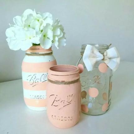 Cheerful ways to use mason jars this spring 43