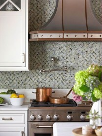Modern herringbone pattern to give unique elements to your kitchen 01